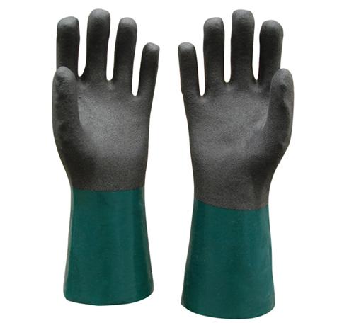 PVC双色浸胶手套