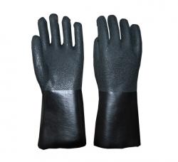 黑色花砂手套