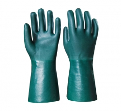 绿色平砂手套