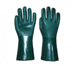 绿色花砂手套