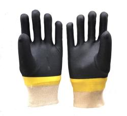 双色浸胶手套