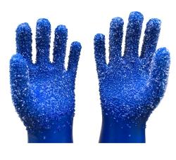 蓝色颗粒手套